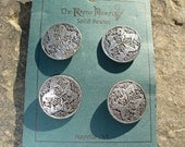 Pewter  Buttons - Celtic Knot Equine Design