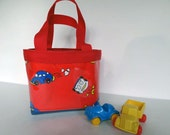 Children's Tote Bag for Lunch or Toys with Car Print Waterproof