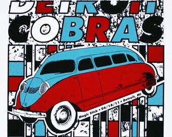 The Detroit Cobras - Hand Printed Gig Poster