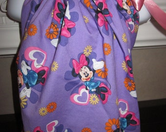 Boutique Pillowcase Dress Disney Minnie Mouse Purple  2T, 3T, 4T,  5, 6, 7