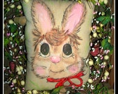 Primitive Bunny Rabbit Pillow
