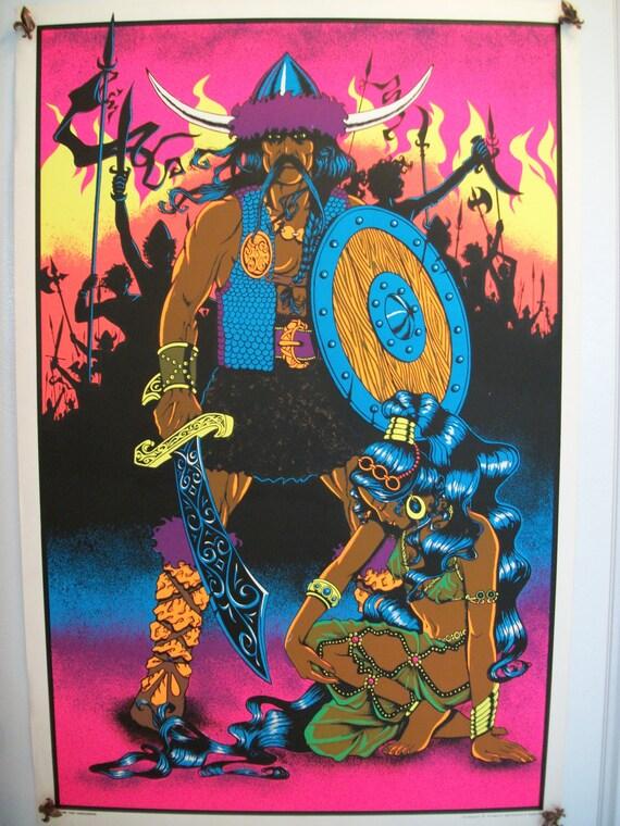 The Conqueror  Original  Blacklight   Screenprint poster SALE