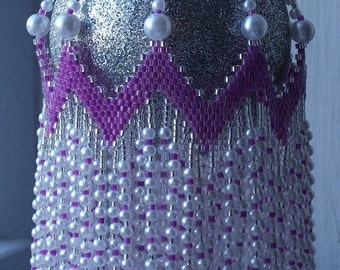 RICKRACK 'n ROLL Beaded Ornament Cover E-Pattern