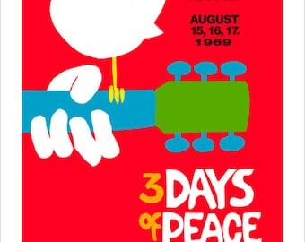 8x10 - Woodstock Poster - print
