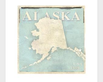 Alaska Art Print  -11x14 or 16x20 -