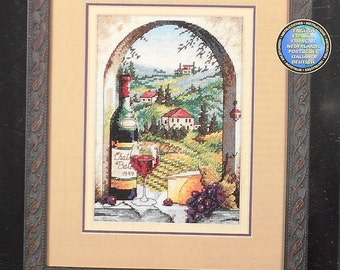 Dimensions The Gold Collection Petites DREAMING OF TUSCANY - Counted Cross Stitch Chart Kit Wine Country