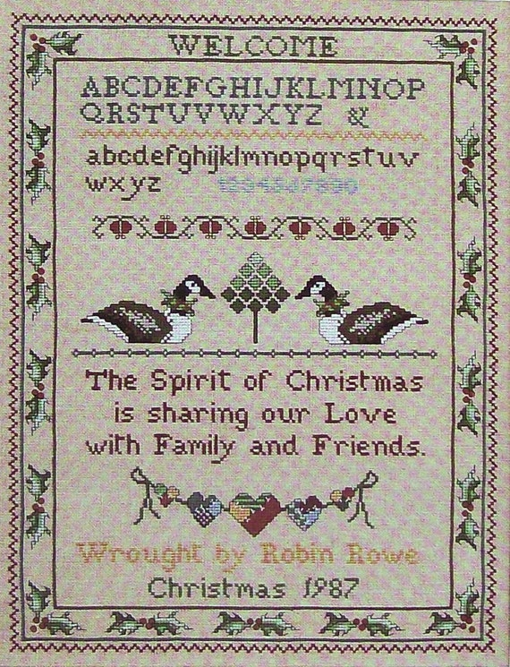 Robin Rowe A COLLECTION of SAMPLERS New And Old Favorites  - Counted Cross Stitch Pattern Chart