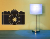 35 MM Camera, Camera Decal, Camera Decor, Photographer Decal, Office Decor, Wall Art, Studio Decor, Home Decor, Pop Art, Modern Decor