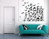 Flock of Birds, Bird Decal, Bird Decor, Seagulls, Pigeons, Doves, Fly, Vinyl Decal, Sticker, Wall Art, Home Decor, Office, Bedroom Decor
