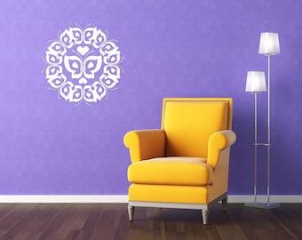 Medallion Decal, Butterfly Decor, Butterfllies, Heart Decor, Heart Decal, Sticker, Vinyl, Wall, Home, Nursery Wall Art, Girl's Bedroom Decor