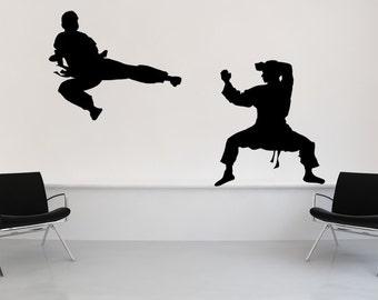 Karate, Judo, Ninja, Black Belt, Karate Decal, Wall Decal, Home Decor, Studio Decor, Kids Room Decor, Wall Art, Bedroom Wall Decor, Children
