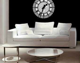 Big Ben, Clock Face, London Decor, London Decal, English Decor, British Decor, Skyline, Skyline Decal, Home Decor, Office Art, Wall Decal