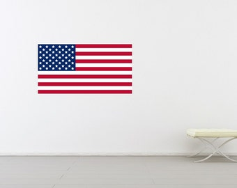 Old Glory, American Flag Decal, American Flag Wall Art, American Flag, American Flag Decor, Vinyl Sticker, Office, School, Military Decor