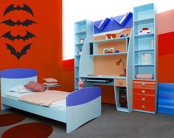 Batman Decal, Bat Decal, Bat Decor, Halloween Decorations, Super Hero, Superhero Decal, Bats, Gothic, Wall Art, Home, Boy's Bedroom Decor