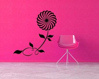 PinWheel Decorations, Flower Decal, Floral Decor, Wall Decal, Wall Sticker, Vinyl, Nursery Wall Art, Daisy Decor, Home, Girl's Bedroom Decor