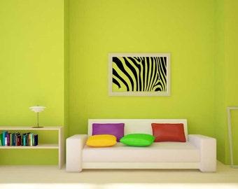 Zebra Print, Zebra Art, Zebra Wall Decal, Zebra Skin, Zebra Room Decor, Zebra Decor, Zebra Decal, Home Art, Africa Wall Decal, African Decor