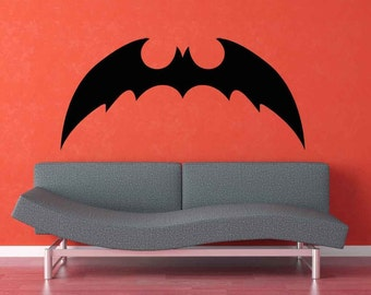 Bat Decal, Batman Decal, Bat Decor, Halloween Decor, Super Hero Decal, Superhero Decal, Bats, Gothic, Wall Art, Home, Boy's Bedroom Decor