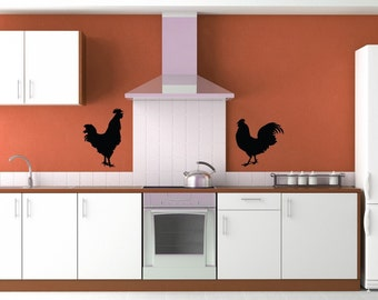 Rooster Decal, Rooster Decor, Chicken Decal Chicken Decor, Wall Decal, Wall Art, Restaurant, Rooster Kitchen Decor, Home Decor, Wall Decor