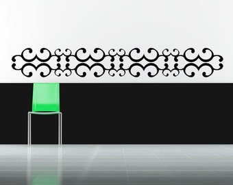 Scroll Wall Decal Etsy - Vinyl wall decals borders