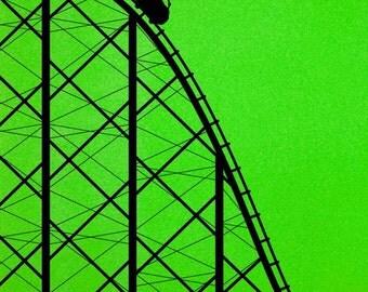 Roller Coaster, Carnival, Amusement Park, Wall Decal, Carnival Decorations, Fair, Theme Park, Kid's Decor, Birthday Decor, Childrens Art