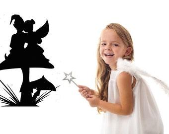 Fairy, Gnome, Mushroom, Love Decal, Sticker Vinyl Home Wall Art, Kids Bedroom, New Age Decor, Fairy Garden, Fairy Wings, Hat, Magical, Magic