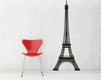 Paris Decor, Eiffel Tower Decor, Eiffel Tower Decal, Paris Decal, French Decor, French Decals, Home Art,Tween Room Decor, Childrens Wall Art