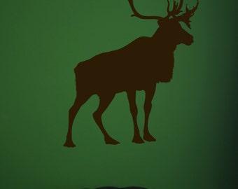 Caribou Reindeer, Hunting Decor, Hunt, Gifts for Hunter, Stag,  Deer, Wall Decal, Home Decor, Antlers, Antler, Animal, Mountain Artwork, Art