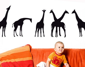 Giraffe Art, Giraffe Nursery, Giraffe Wall Decal, Giraffe Decor, Baby Shower, Giraffe Decal, Wall Decal, Home, Nursery, Kid's Bedroom Decor