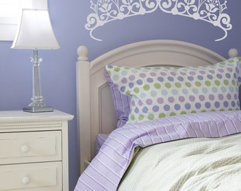 Princess Crown, Princess Decal, Princess Decor, Tiara Decal, Princess Crown Decal, Girl's Room Decor, Wall Art, Daycare, Nursery Decor