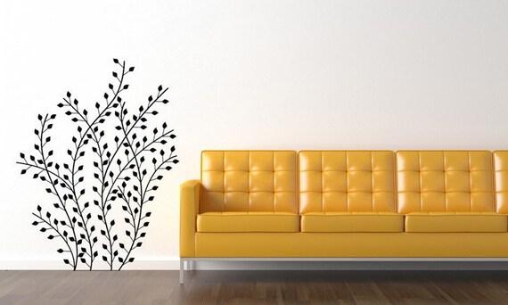 Shrubs, Leaf Decal, Branch Decal, Branch Decor, Leaf Decor, Branches, Plant Decor, Plant Decal, Wall Decal, Home Decor, Wall Art, Home Art