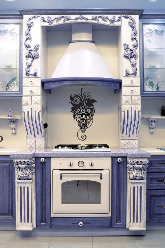 Grape Vine, Grap Decor, Swirl Decal, Vines, Wine Decor, Kitchen Decor, Wall Decal, Sticker, Vinyl, Home, Kitchen, Restaurant, Dining Decor