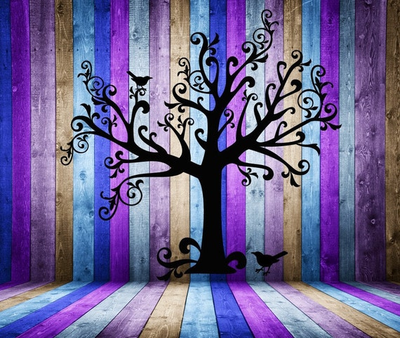 Tree Wall Decal, Tree Decal, Whimsical Art, Whimsical Decor, Tim Burton, Gothic Decor, Branch Decal, Branch Decor, Wall decal, Branches, Art