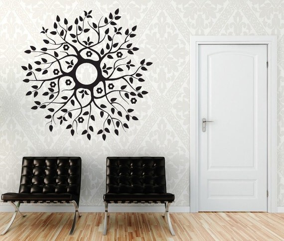 Wreath, Wreath Decal, Leaf Decal, Leaf Decor, Leaves, Ceiling Medallion, Ceiling Decal, Branch Decal, Branch Decor, Branches, Wall Decal