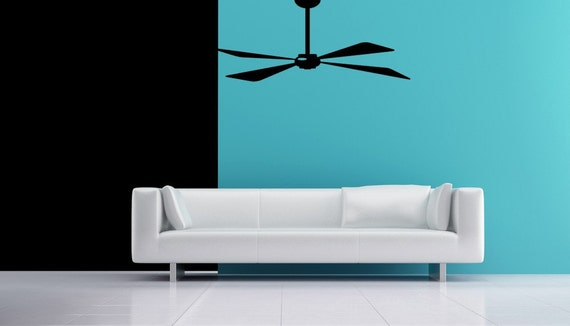 Fan Art, Ceiling Fan, Fan Decal, Fan Blades, Wall Art Home Decor, Decorative Decals, Office Decor, Wall Decal, Vinyl Decal, Vinyl Sticker