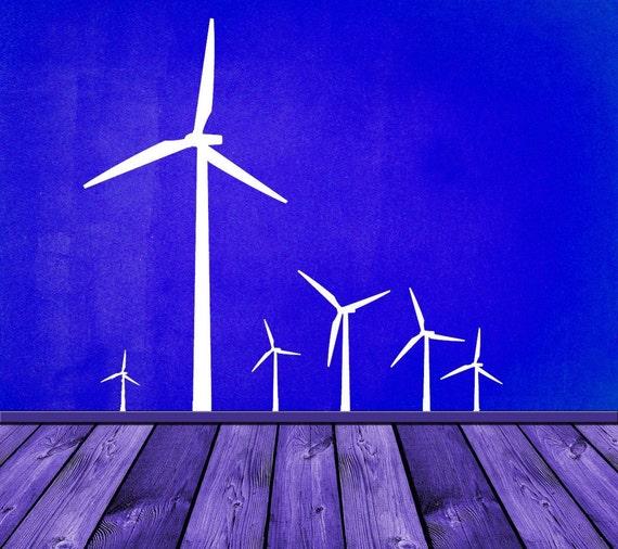 New Generation Windmills, Windmill Wall Decor, Windmill Decor, Windmill Blades, Vinyl Decal, Home Decor, Wall Decal, Home Wall Art. Wind