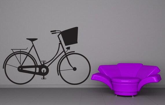 Bicycle Decal, Bicycle Decor, Bike Decal, Bike Decor, Bicycle Wall Art, Bicycle Art, Bicycle Basket, Bike Art, Home Decor, Kids Wall Art