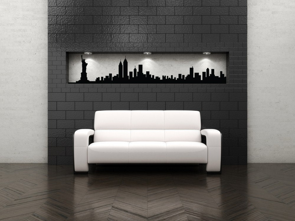 New York City Wall Art new york skyline decal new york city art new york city wall