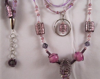 Purple Passion - Necklace, Bracelet and Earrings Set