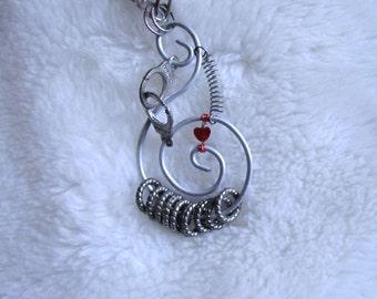 Prisoner of Love - Wire Coil Repurposed Mish-Mash Necklace