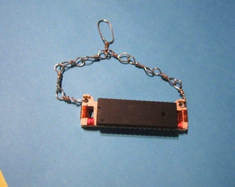 Geek Chic Upcycled Computer Memory Chip Tie Bar or Pendant