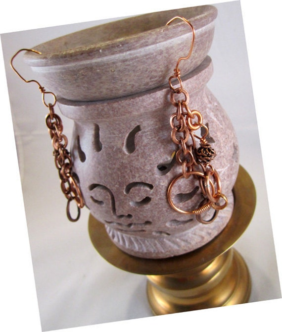 Copper Chains & Stuff Earrings