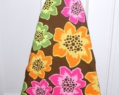 Ironing Board Cover -  Orange, pink and green flowers - Laundry and Housewares