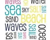 Sea, Beach, Waves Fine Art Print (8x10)