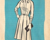 CLEARANCE Box Pleated Dress 1960s Mail Order Pattern (Womens size 18.5)