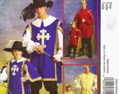 Boys Musketeer or Prince Costume Pattern McCalls 5214 (Boys sizes 3-4-5-6-7-8)