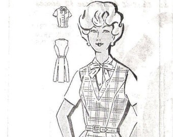 CLEARANCE Sleeveless Dress 1960s Mail Order Pattern (Womens size 40)