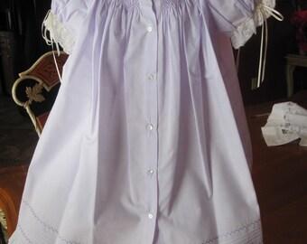 Lavender Bishop Smocked dress