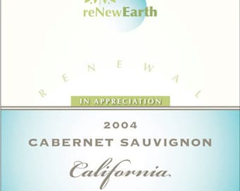 Corporate Wine Label 1 Set, Front AND Back labels, 'Appreciation', Employer or Client Gift with Logo or Photo