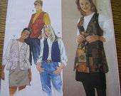 Simplicity 7320 Women's Vest sewing pattern xs, sm, md