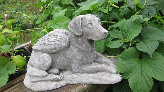Concrete LABRADOR RETRIEVER ANGEL statue